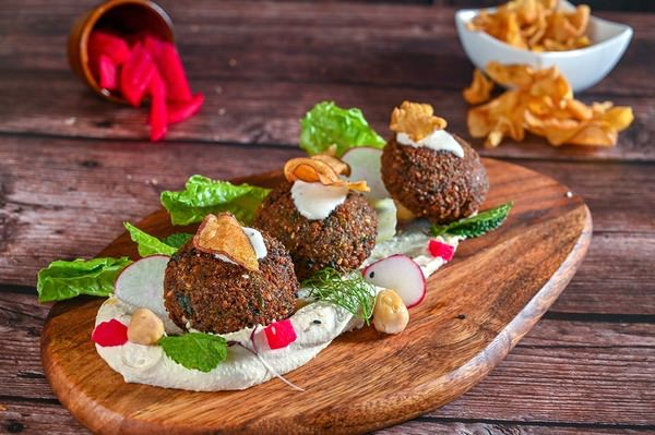 Herb Falafel with hummus