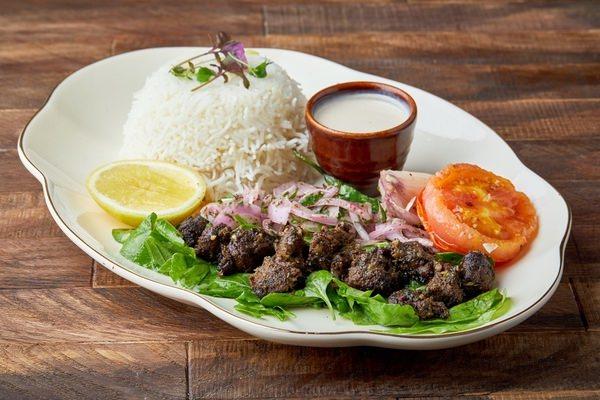 Tikka bahraini with steam rice